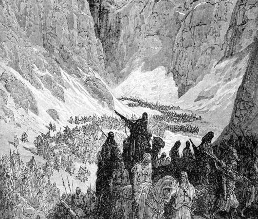 Крестоносцы в Иудейских горах (вокруг Иерусалима)